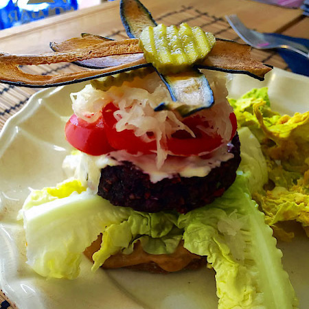 raw vegan cheeseburger zest for life