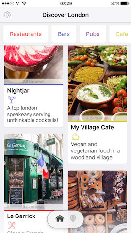 discover restaurants in london with hollabox app