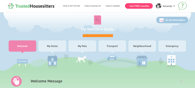 trusted housesitters sitter dashboard
