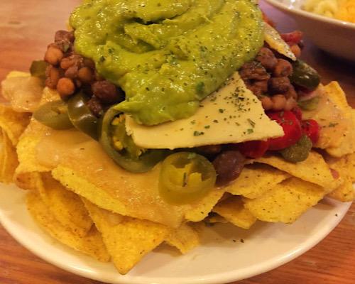 vegan nachos the auld hoose edinburgh scotland