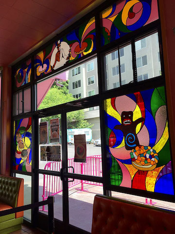 stained glass voodoo doughnut