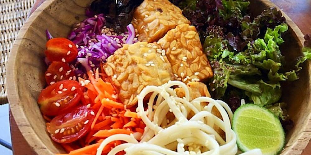 tempeh-san bowl at honeymoon kitchen ubud bali indonesia