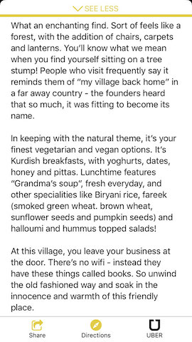 about my village cafe in london hollabox app