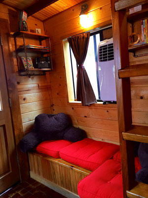 caboose tiny house seating area caravan tiny house hotel