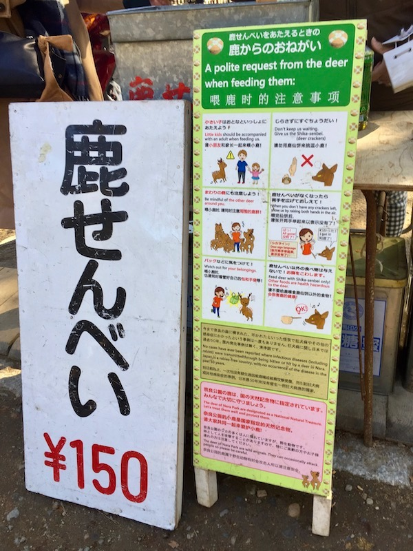 feeding guidelines for nara park deer
