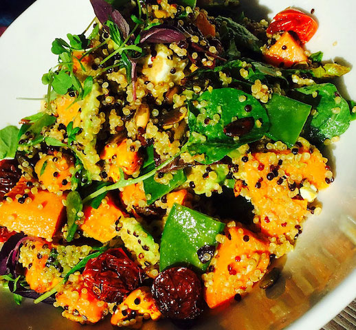 superfood quinoa and sweet potato salad