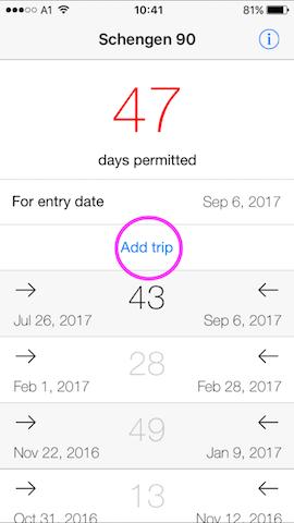 schengen 90 mobile app