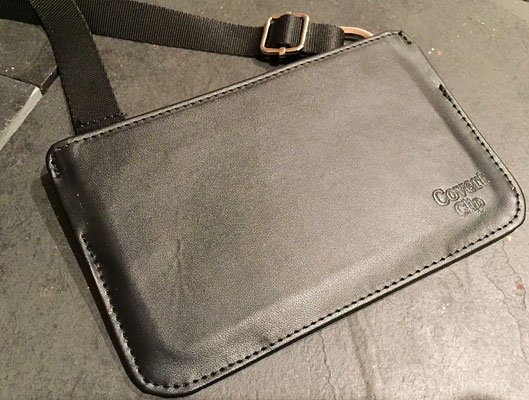 cover clip travel wallet black