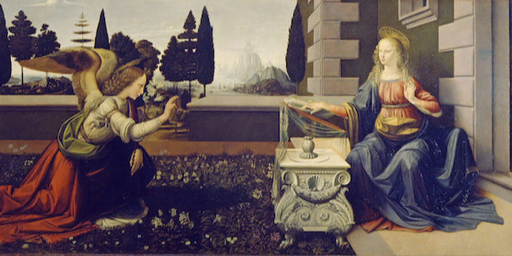 Annunciation by Da Vinci