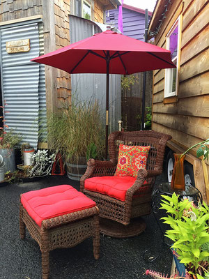 caravan tiny house hotel outdoor seating portland oregon