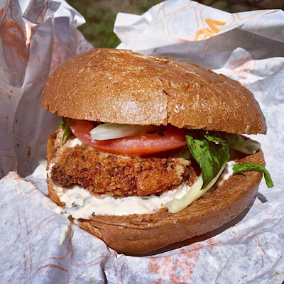 crab sandwich from veggie grill