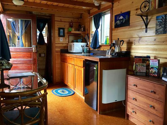 tandem tiny house kitchen  caravan tiny house hotel