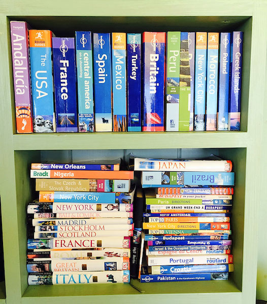 travel guidebook collection