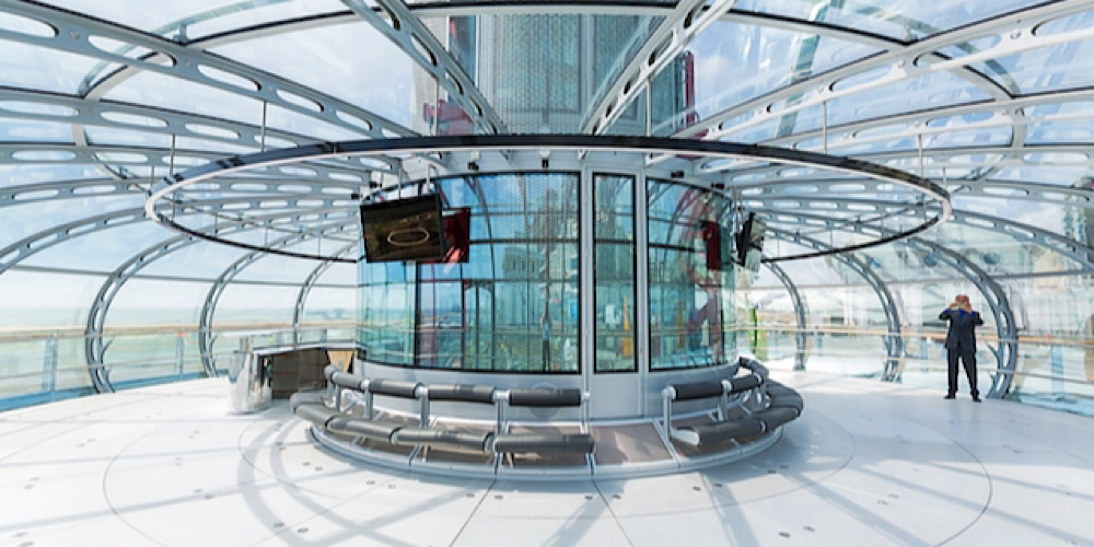 british airways i360 pod interior