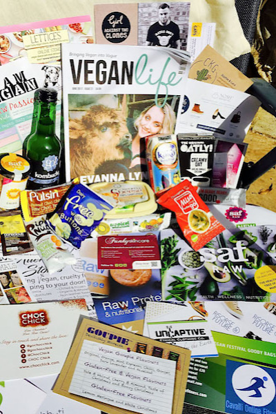 VIP goodie bag vegan summer festival uk brighton