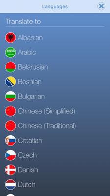 veganagogo languages A-D