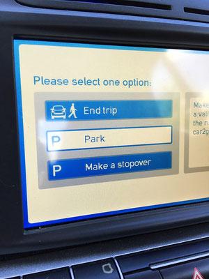 car2go touchscreen start trip