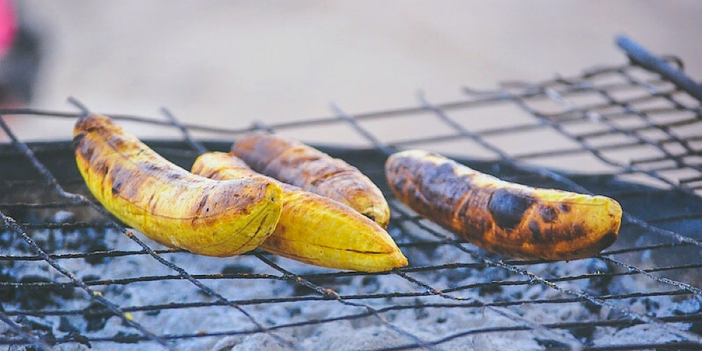 grilled plantains tanzania africa