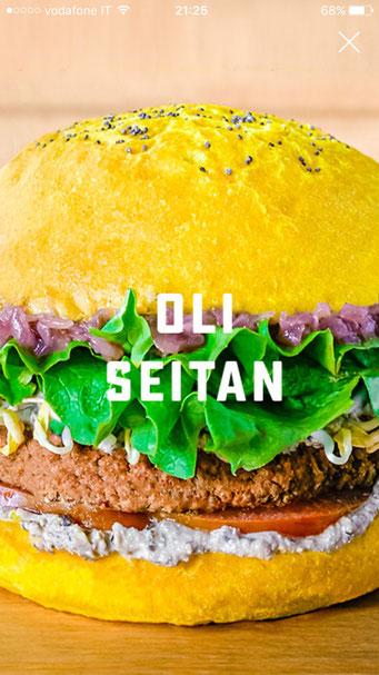 oli seitan vegan burger flower burger
