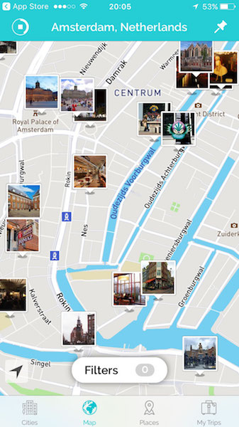 search things to do with tripscout app