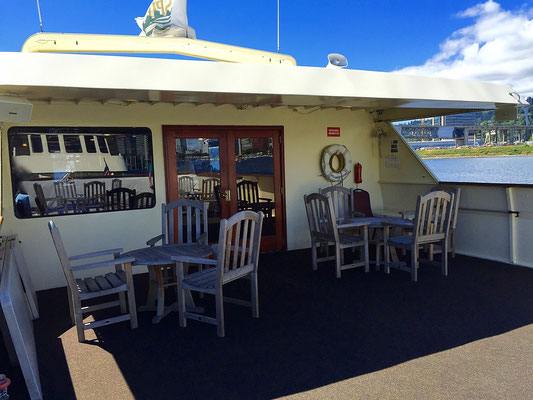 upper deck of the Willamette Star Portland River Cruises