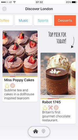 discover desserts in london with hollabox app