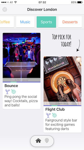 discover sports bars in london with hollabox app