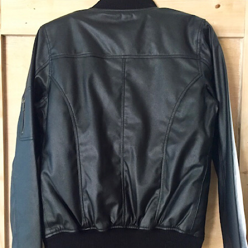 julietta vegan leather bomber jacket james & co boutique