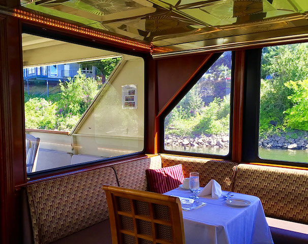 dining table Portland River Cruises