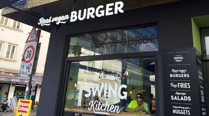 swing kitchen real vegan burger