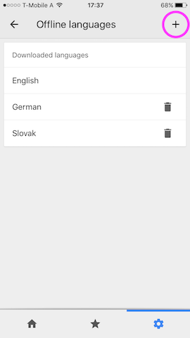 google translate offline langage download