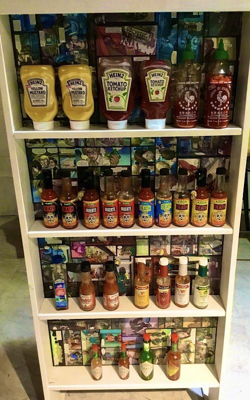 Hideout burrito hot sauces
