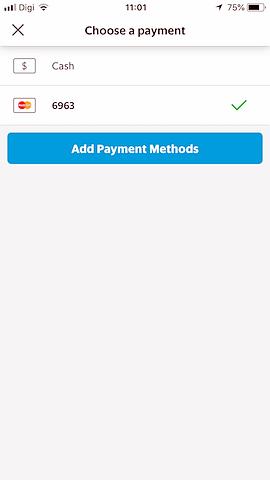 payment methods grab app