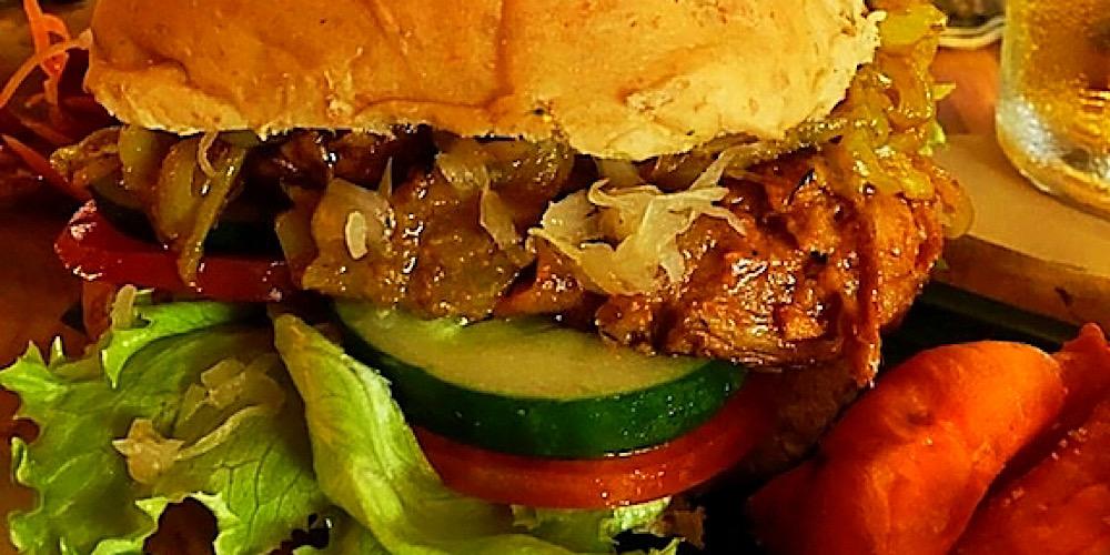 seitan burger from earth cafe ubud bali