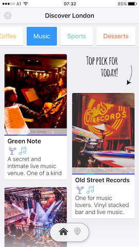 discover music spots in london with hollabox app