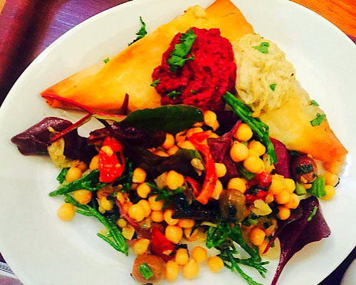 vegan chickpea salad empanada