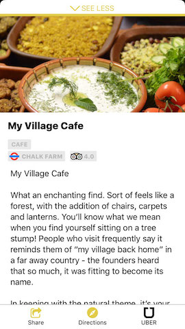 my village cafe london hollabox