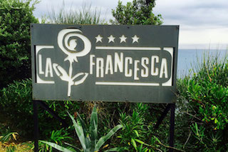 la francesca road sign italy