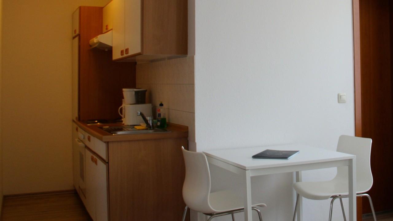 Studio Apartment Küche - Beispiel