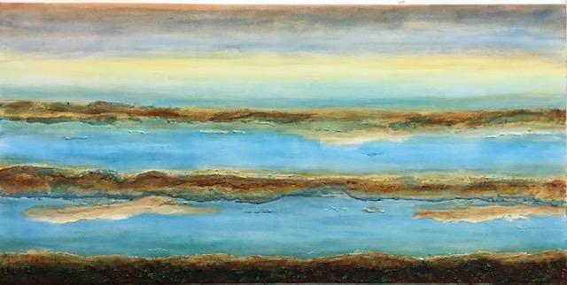 Flusslandschaft 2    120 x 60 x 2
