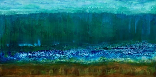 Flusslandschaft Abstrakt 120 x 60 x 2