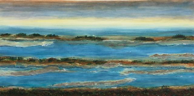 Flusslandschaft 4  120 x 60 x 2