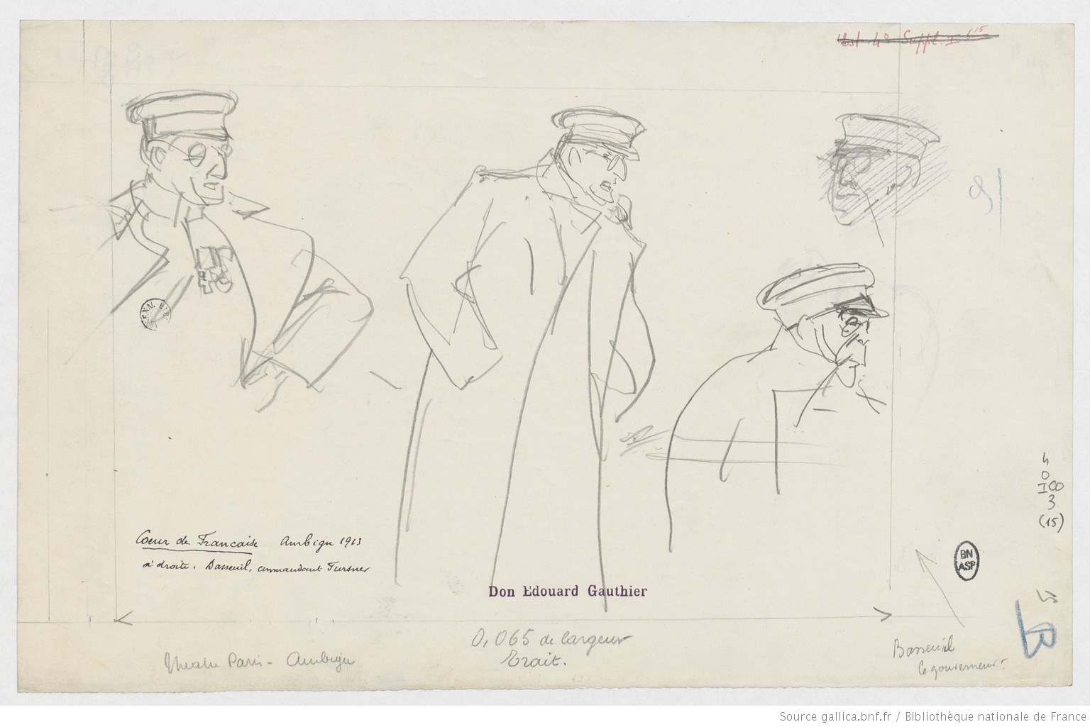 """Louis Basseuil dans """"Cœur de Française"""" 1 (dessins de Paul Charles Delaroche, 1913)"""