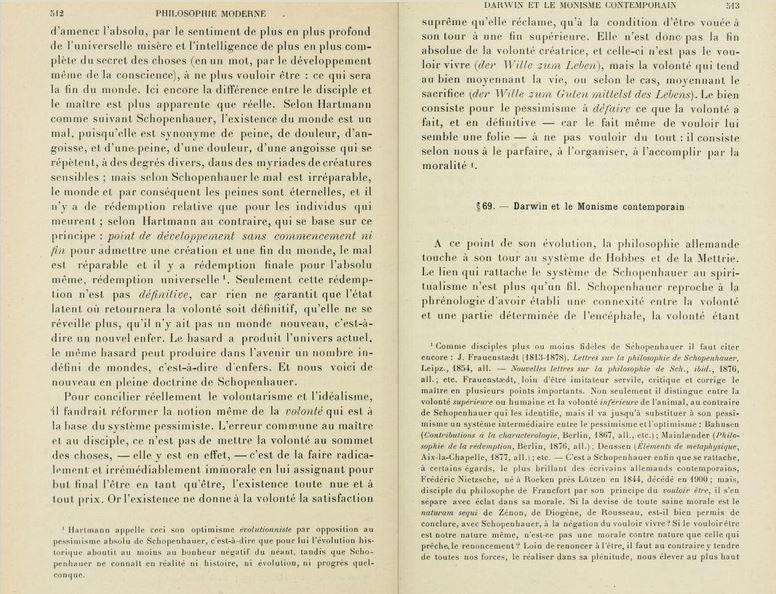 Extrait de Alfred Weber, Histoire de la philosophie européenne, 8ème édition, 1914.