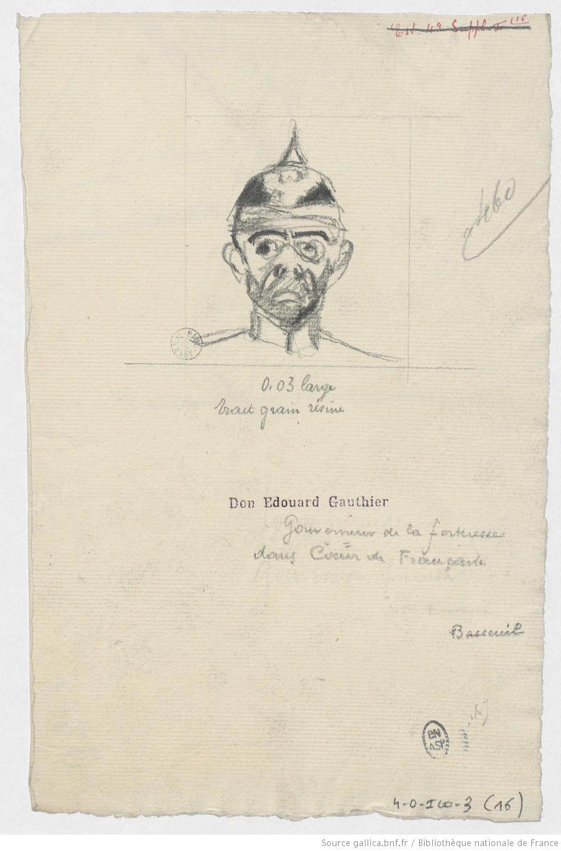 """Louis Basseuil dans """"Cœur de Française"""" 2 (dessins de Paul Charles Delaroche, 1913)"""