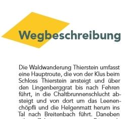 Waldwanderung Bucheggberg - einmalige Rundtour ab Schloss Buchegg durch das Mühlitäli - varierbar in der Länge wie alle Wanderungen auf Wandern Jura