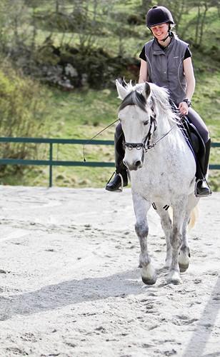 Rideundervisning ved Frekhaug nær Bergen