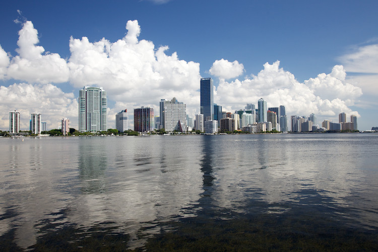 Miami, view from Key Biscayne