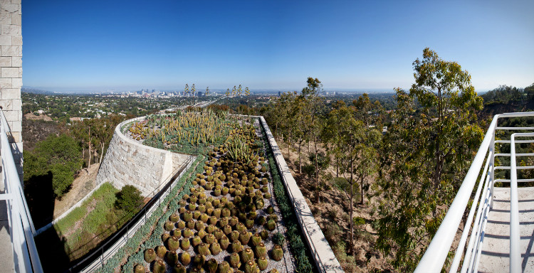 The Getty Center, cactus garden and view on LA, by Richard Meier, Los Angeles, CA, USA. (2013)