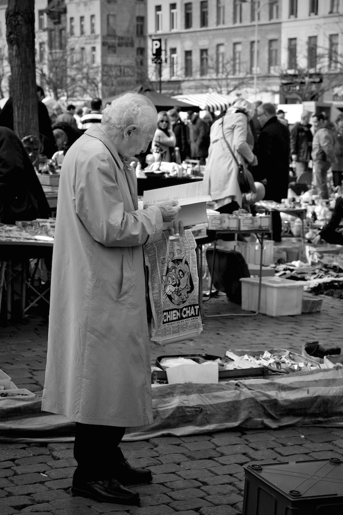 Reading, flea market at the Jeu de Balle